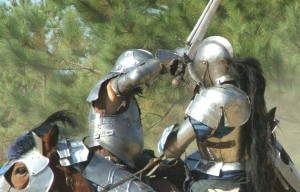combat on horseback